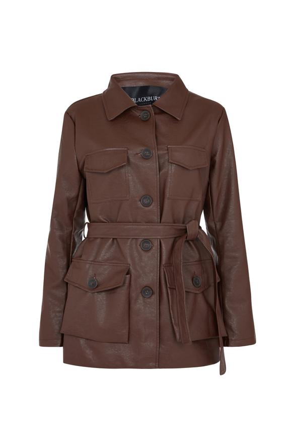 Brown Vegan Leather coat